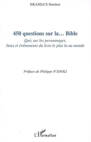 Couverture 450 questions sur la... Bible