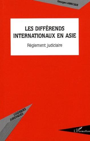 Couverture Les différends internationaux en Asie