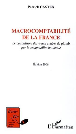 Couverture Macrocomptabilité de la France