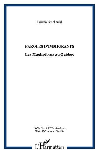 Couverture Paroles d'immigrants