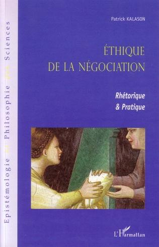 Couverture Ethique de la négociation