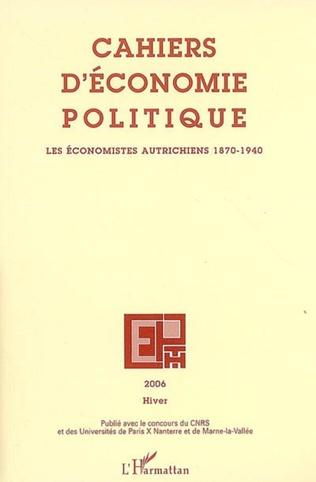 Couverture Les économistes autrichiens (1870-1940)