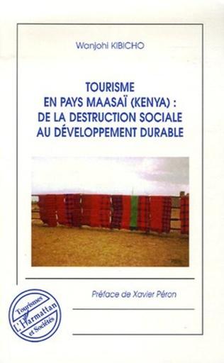 Couverture Tourisme en pays maasaï (Kenya)