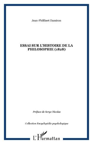 Couverture Essai sur l'histoire de la philosophie (1828)