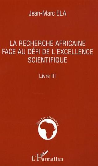 Couverture La recherche africaine face au défi de l'excellence scientifique