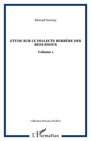 Couverture Etude sur le dialecte berbère des Beni-Snous