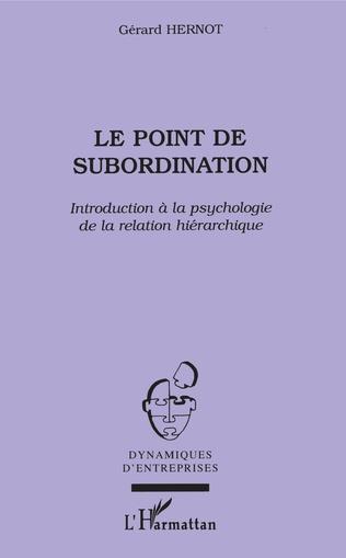 Couverture Le point de subordination