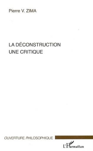 Couverture La déconstruction