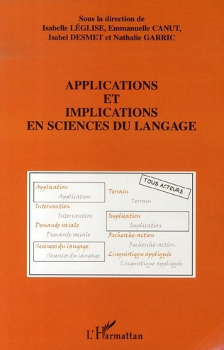 Couverture Applications et implications en sciences du langage