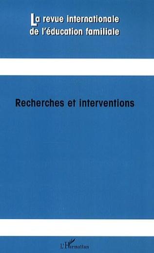 Couverture Recherches et interventions