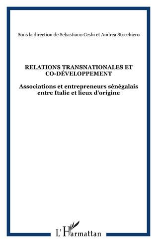 Couverture Relations transnationales et co-développement