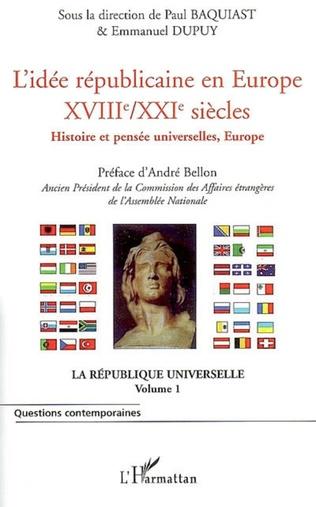 Couverture L'idée républicaine en Europe (XVIIIe-XXIe siècle)