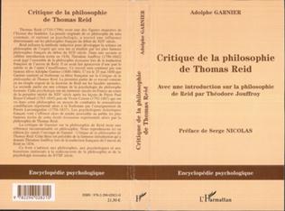 Couverture Critique de la philosophie de Thomas Reid