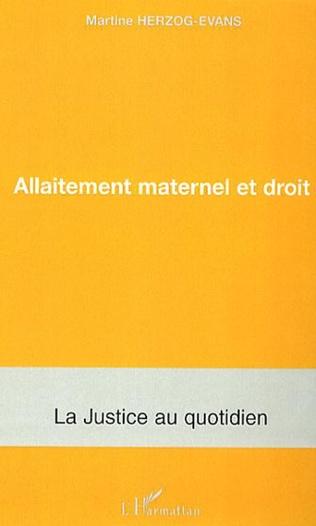 Couverture Allaitement maternel et droit
