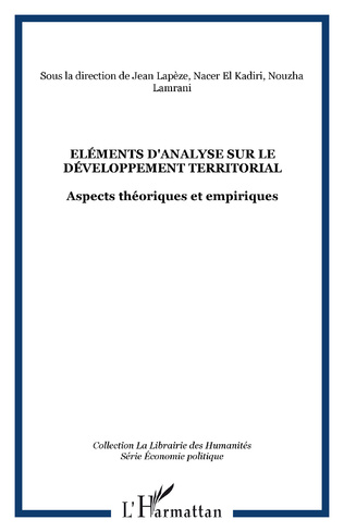 Couverture Eléments d'analyse sur le développement territorial