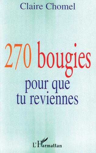 Couverture 270 bougies pour que tu reviennes