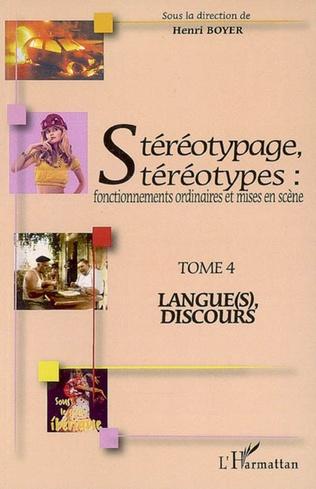 Couverture Stéréotypage, stéréotypes