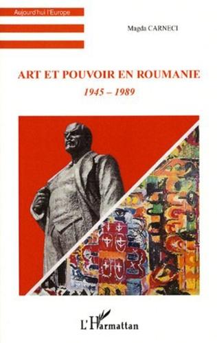 Couverture Art et pouvoir en Roumanie