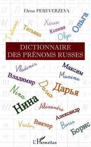 Couverture Dictionnaire des prénoms russes