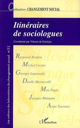 Couverture Itinéraires de sociologues