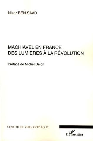 Couverture Machiavel en France