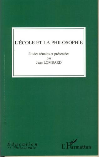 Couverture L'école et la philosophie