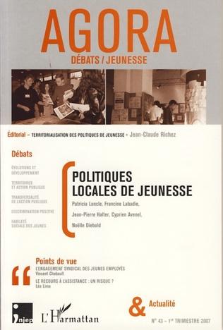 Couverture Politiques locales de jeunesse