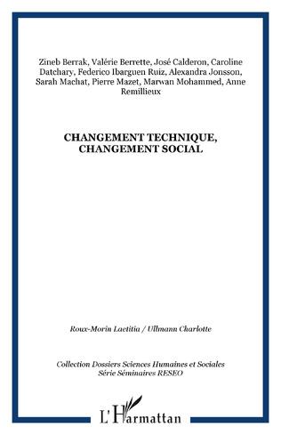 Couverture Changement technique, changement social