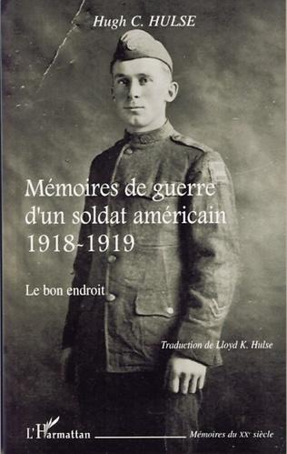 Couverture Mémoires de guerre d'un soldat américain 1918-1919