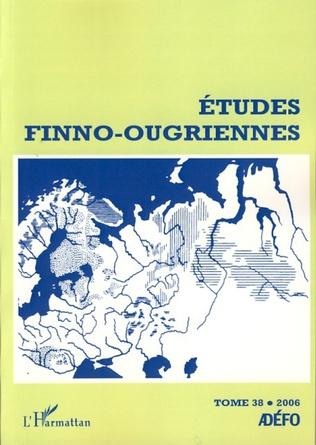 Couverture Etudes finno-ougriennes n°38