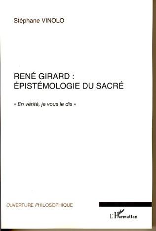 Couverture René Girard : épistémologie du sacré