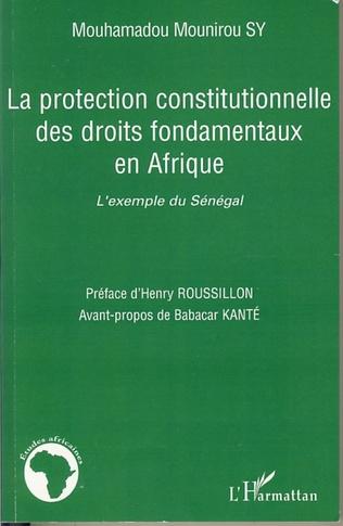 Couverture La protection constitutionnelle des droits fondamentaux en Afrique