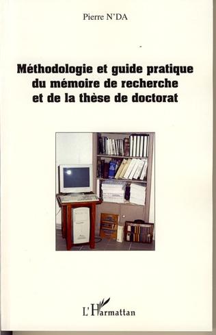 Couverture Méthodologie et guide pratique du mémoire de recherche et de
