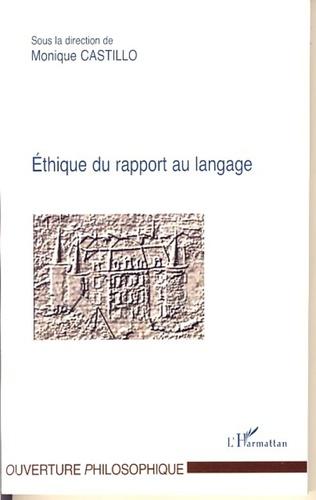 Couverture Ethique du rapport au langage