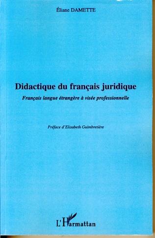 Didactique Du Francais Juridique Francais Langue Etrangere