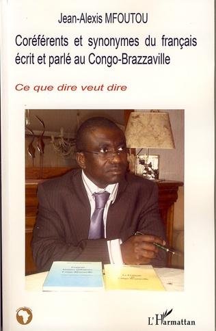 Couverture Coréférents et synonymes du français écrit et parlé au Congo-Brazzaville
