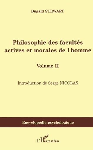 Couverture Philosophie des facultés actives et morales de l'homme