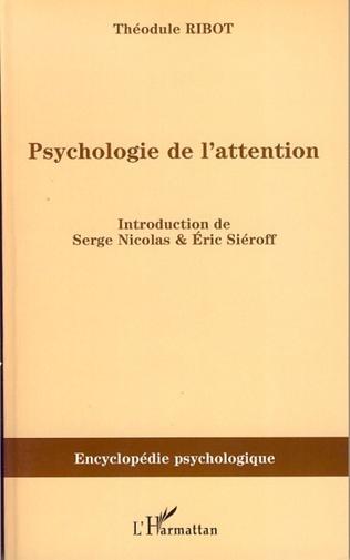 Couverture Psychologie de l'attention