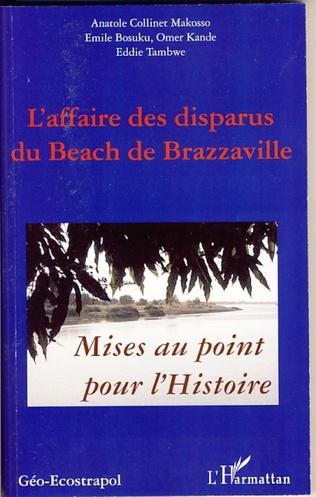 Couverture L'affaire des disparus du beach de Brazzaville