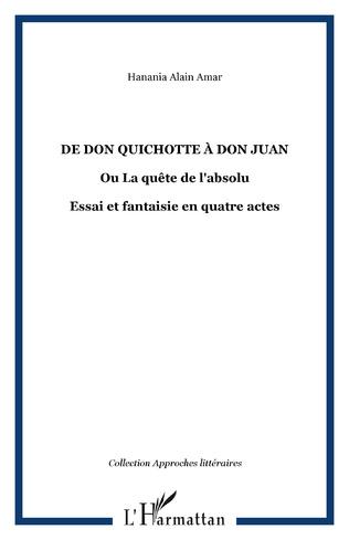 Couverture De Don Quichotte à Don Juan