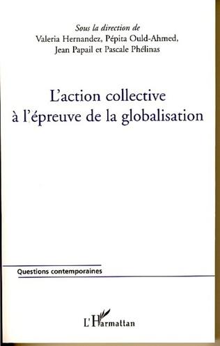 Couverture L'action collective à l'épreuve de la globalisation