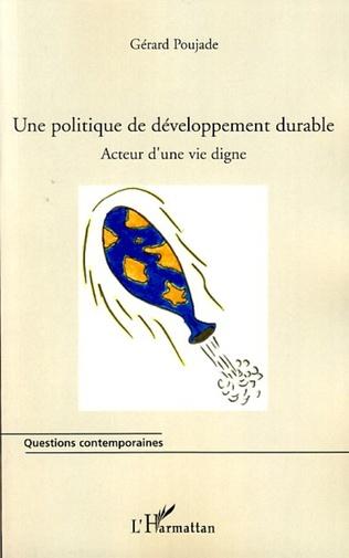 Couverture Une politique de développement durable