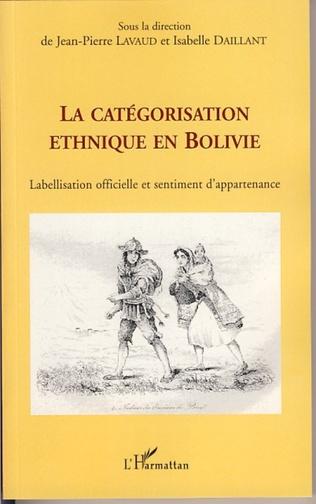 Couverture La catégorisation ethnique en Bolivie