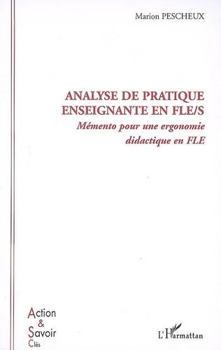 Couverture Analyse de pratique enseignante en FLE/S
