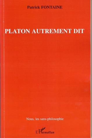 Couverture Platon autrement dit