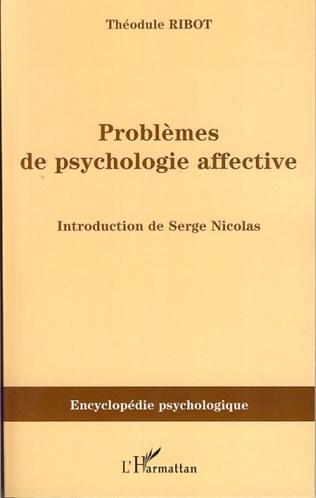 Couverture Problèmes de psychologie affective