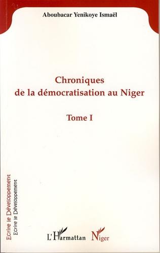 Couverture Chroniques de la démocratisation au Niger