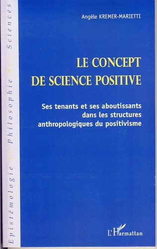 Couverture Le concept de science positive