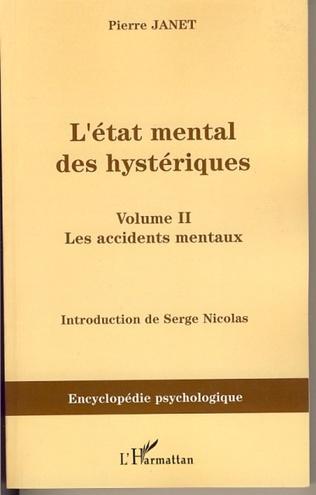 Couverture L'état mental des hystériques (Volume II)