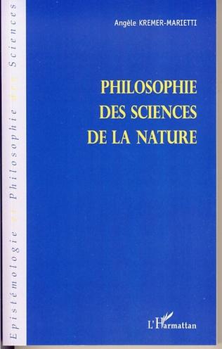 Couverture Philosophie des sciences de la nature